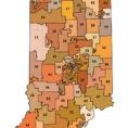Congressional Districts By Zip Code Spreadsheet Regarding Legislative Redistricting Topic Page: Stats Indiana