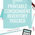 Consignment Inventory Spreadsheet Pertaining To Consignment Inventory Tracking Spreadsheet  Made Urban