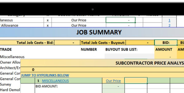 Construction Allowance Spreadsheet Throughout Premier Construction Spreadsheets  Premade And Custom Construction