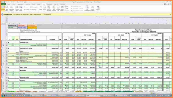 Construction Cost Estimate Vs Actual Spreadsheet Regarding Construction Estimating Excel Spreadsheet  Aljererlotgd