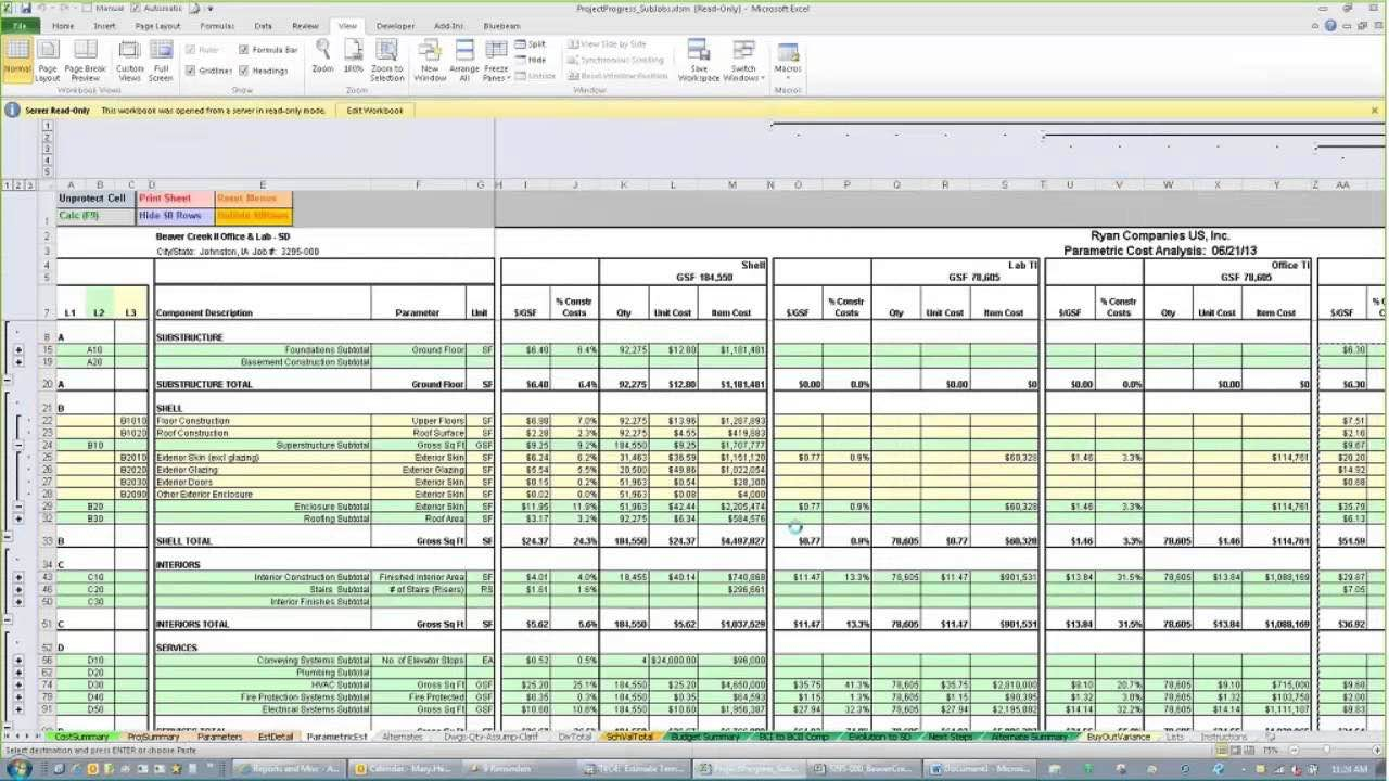 Construction Excel Spreadsheet Pertaining To Excel Spreadsheet For Estimating Construction Costs And Free Excel