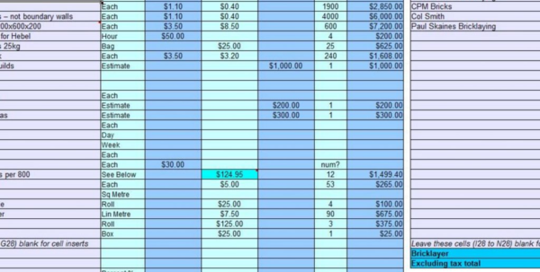 Construction Job Costing Spreadsheet Free Regarding 7 Free Construction Estimating Software Products With Construction Construction Job Costing Spreadsheet Free Spreadsheet Download