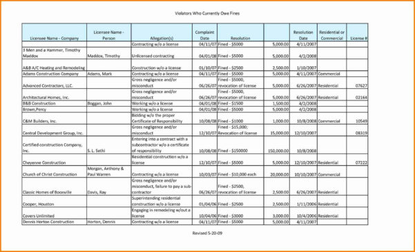 Construction Material Spreadsheet In Example Of Construction Take Off Spreadsheets Material Takeoffl