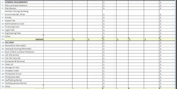 Construction Material Tracking Spreadsheet Regarding Construction Bid Tracking Spreadsheet Unique Construction Expenses