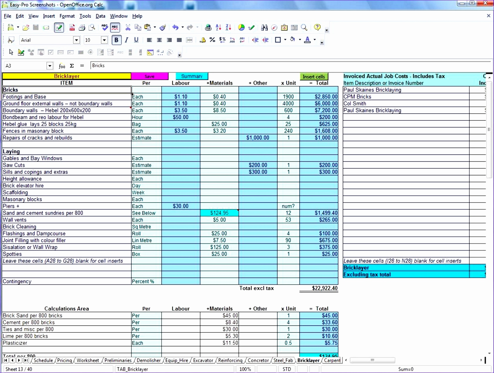 Construction Material Tracking Spreadsheet With Sheet Construction Cost Tracking Spreadsheet Newob Costing Template