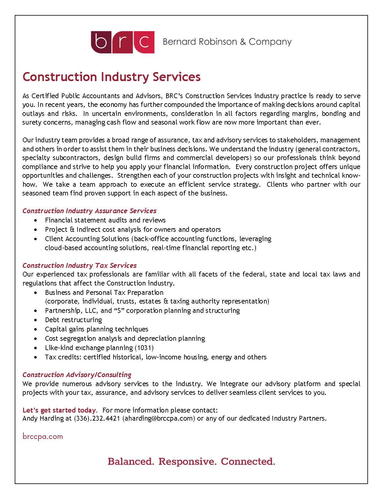 Construction Project Cash Flow Spreadsheet Regarding Construction  Bernard Robinson  Company