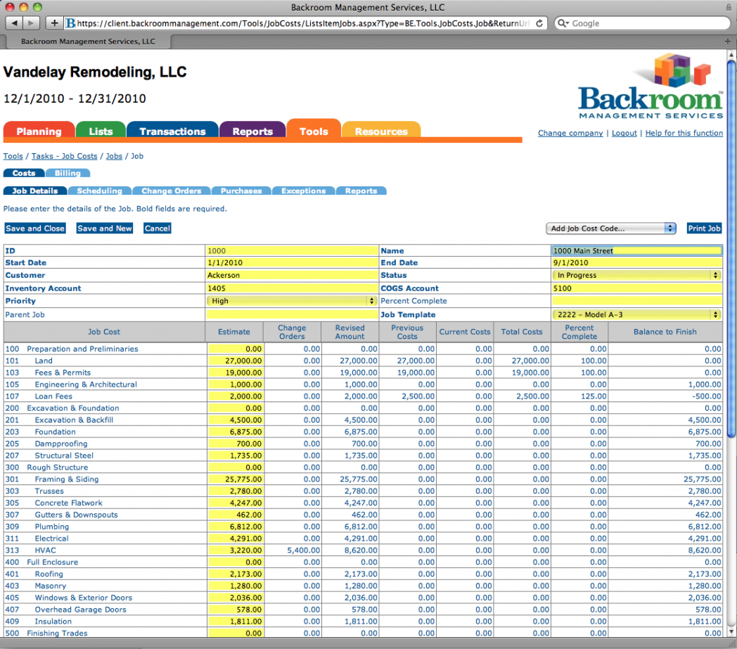Construction Project Cost Tracking Spreadsheet Throughout Job Costing Spreadsheet Excel ~ Epaperzone
