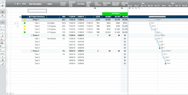 Construction Project Management Spreadsheet Intended For Construction Project Management Templates Free Download Free Excel