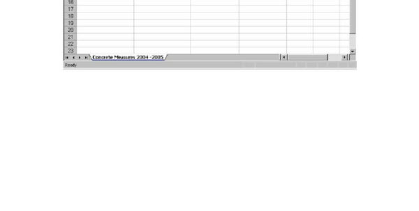 Construction Spreadsheet In Example Of Spreadsheet Record Used On Construction Project