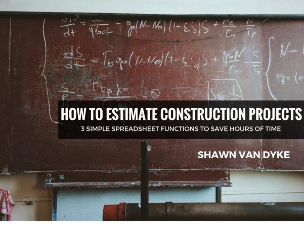 Construction Spreadsheet Regarding How To Estimate Construction Projects  Shawnvandyke