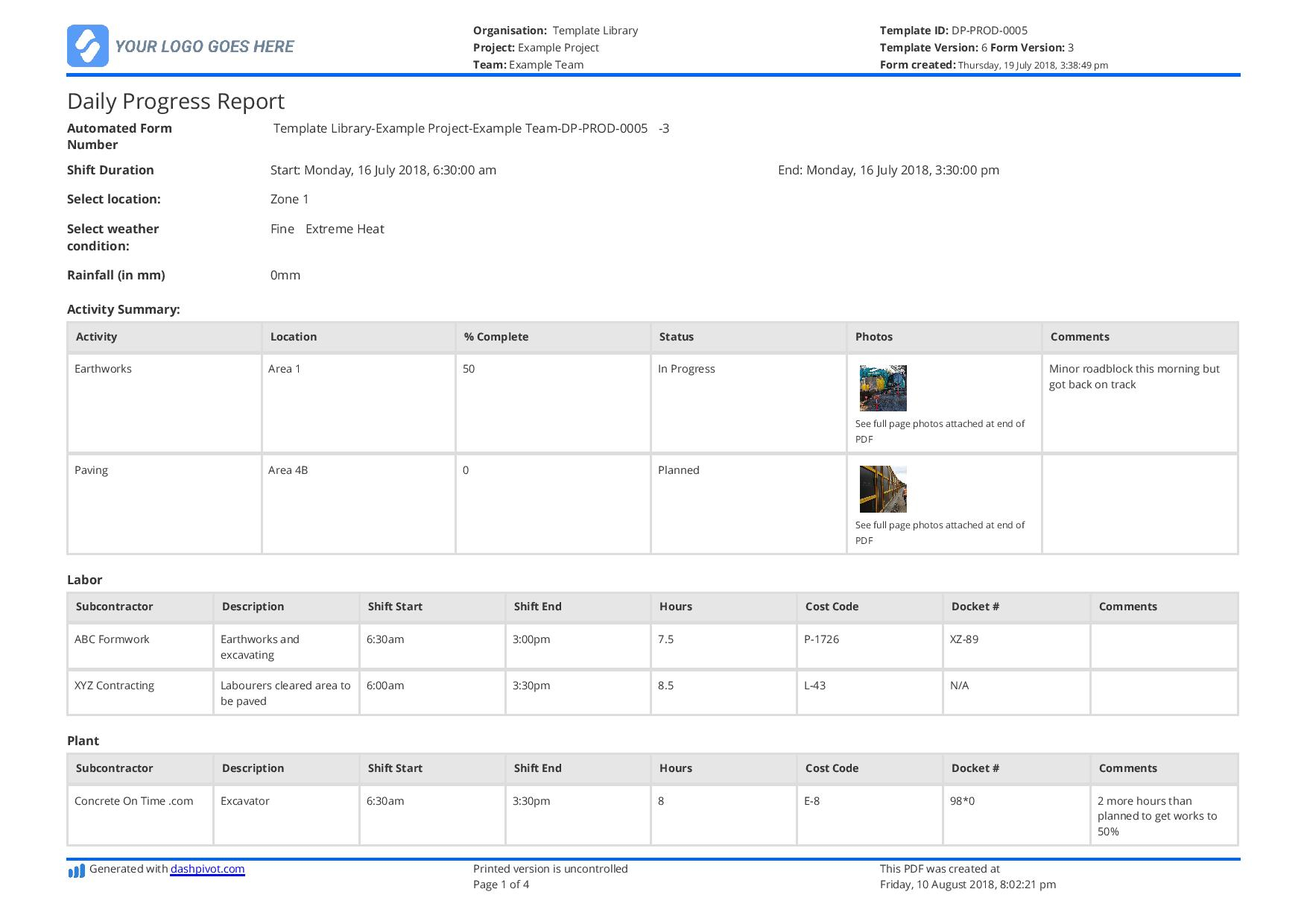 Construction Work In Progress Spreadsheet For Free Construction Daily Report Template Better Than Excel Or Word