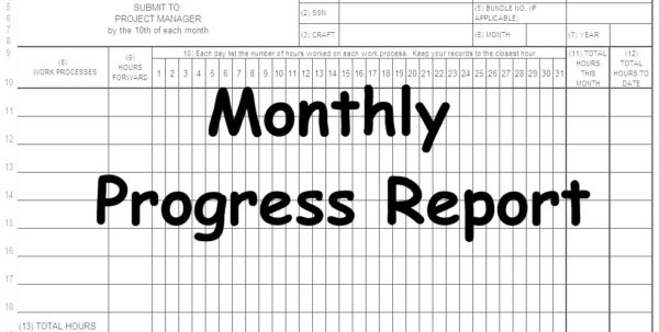 Construction Work In Progress Spreadsheet Intended For Monthly Progress Reportmpr Spreadsheet Online Civil, Excel