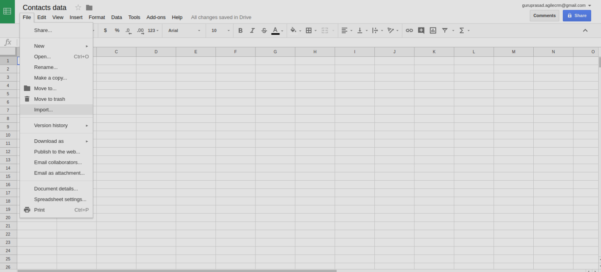 Contact Spreadsheet Throughout Importing Contact Lists In Agile Crm