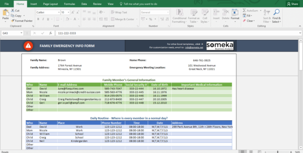 Contact Spreadsheet With Regard To Emergency Contact Form  Free Excel Spreadsheet Template