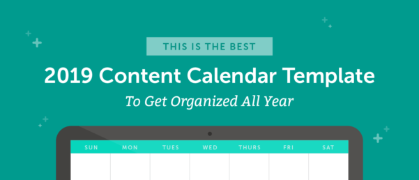 Content Calendar Spreadsheet For 2019 Social Media Content Calendar: How To Easily Plan Every Post