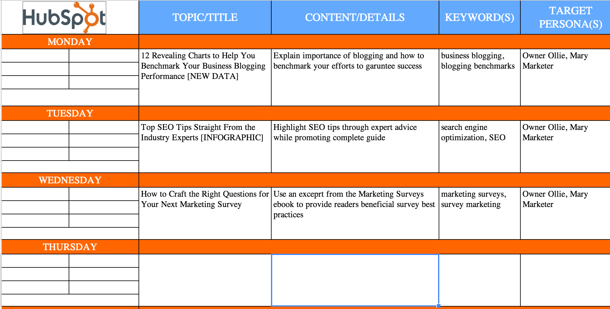 Content Calendar Spreadsheet Intended For The Complete Guide To Choosing A Content Calendar