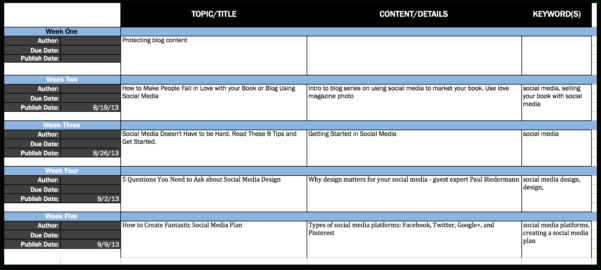 Content Calendar Spreadsheet Pertaining To How To Get Organized With An Editorial Calendar