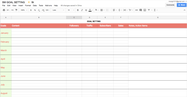 Content Calendar Spreadsheet Throughout How To Create An Epic Content Calendar For 2019 With Template