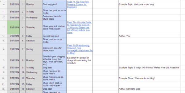 Content Calendar Spreadsheet With Regard To The Complete Guide To Choosing A Content Calendar