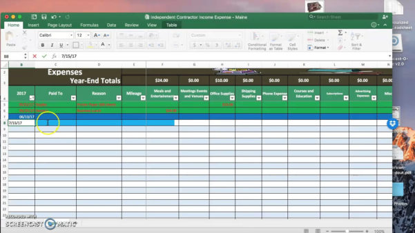 Contractor Expenses Spreadsheet Template In Example Of Independent Contractor Expenses Spreadsheet Selo L Ink Co