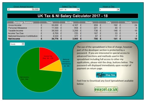 Contractor Tax Calculator Spreadsheet For Uk Salary Calculator Template Spreadsheet  Eexcel Ltd