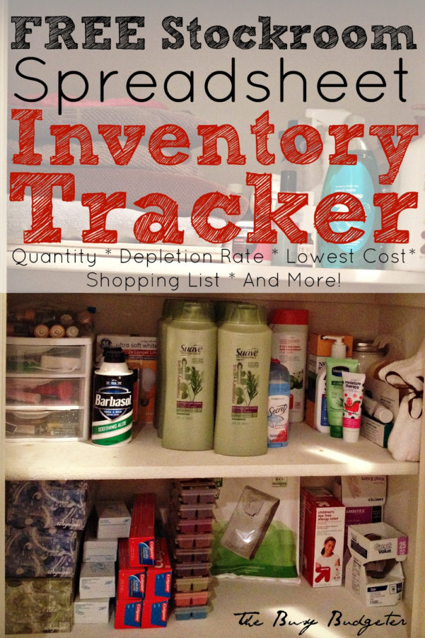 Convenience Store Inventory Spreadsheet Regarding The 3 Reasons You Need A Home Supply Closet And A Free Home Supply