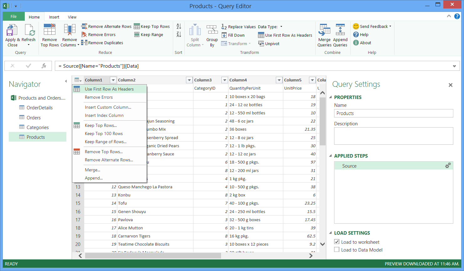 Convert Excel Spreadsheet To Access Database 2016 Throughout Combine Data From Multiple Data Sources Power Query  Excel