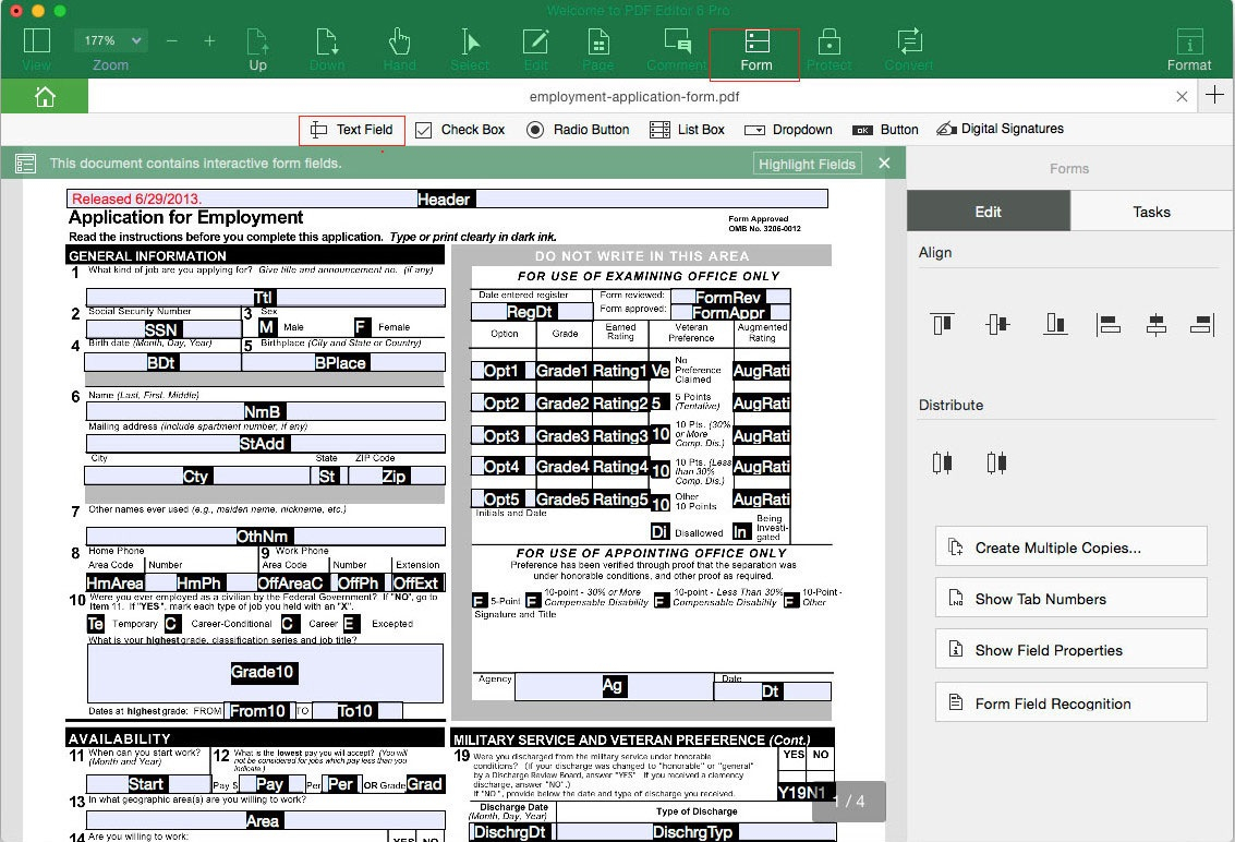 Convert Excel Spreadsheet To Fillable Pdf Form Regarding Pdf Filler  How To Fill Out Pdf Form On Mac And Windows