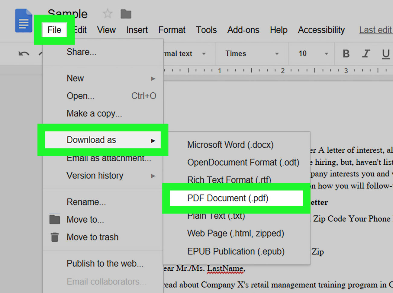 Convert Excel Spreadsheet To Fillable Pdf Inside How To Make Pdfs Editable With Google Docs: 11 Steps