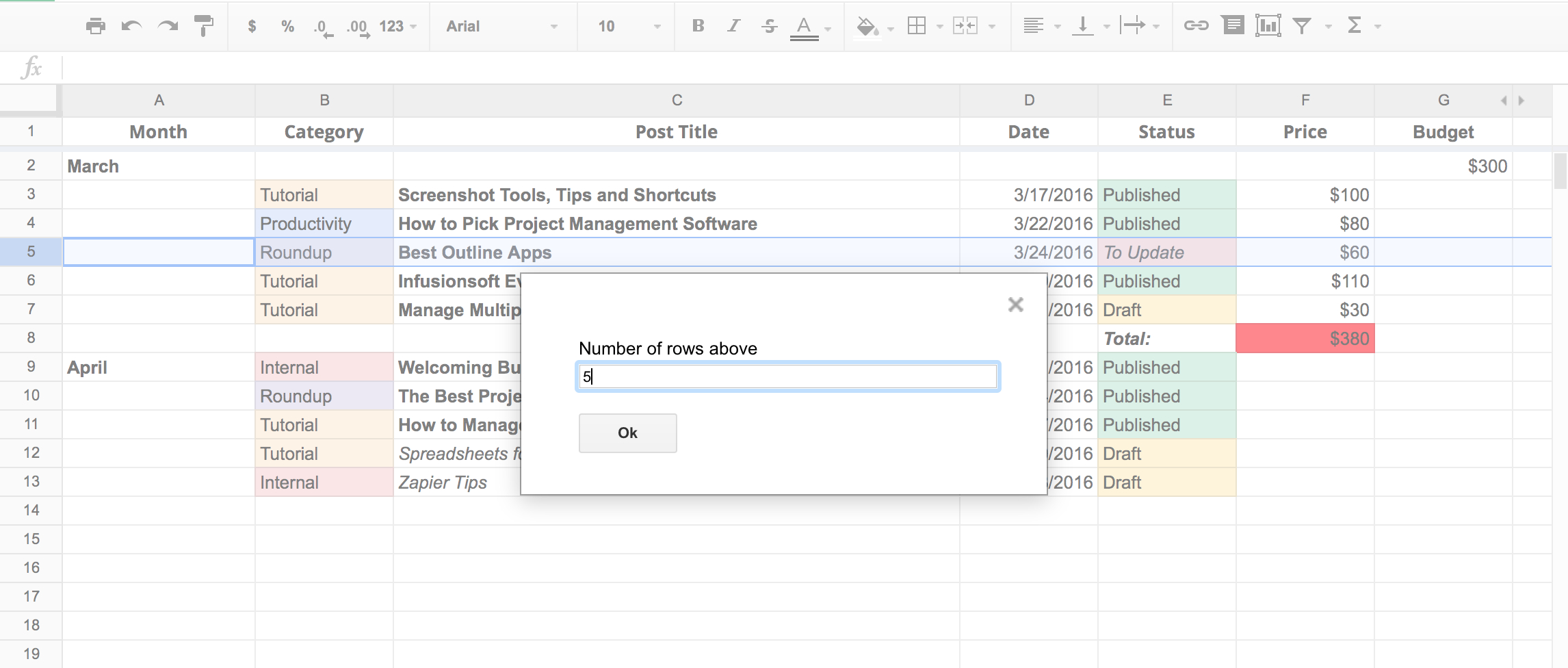 Convert Google Spreadsheet To Html With Regard To 50 Google Sheets Addons To Supercharge Your Spreadsheets  The