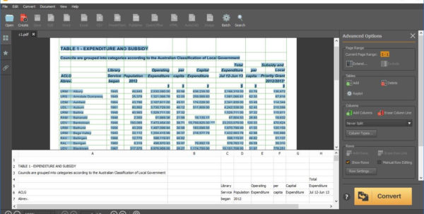 Convert Pdf Into Excel Spreadsheet Pertaining To Convert Pdf Into Excel Spreadsheet And Convert A Pdf To Excel