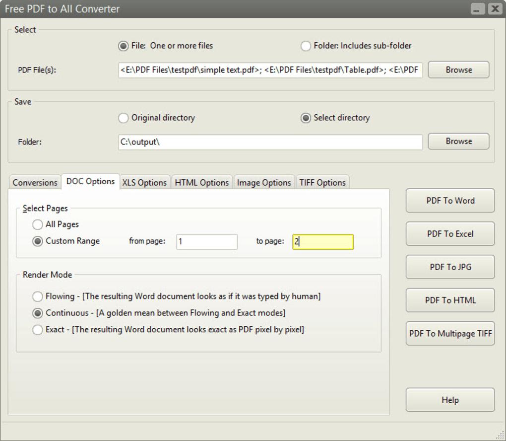 Convert Pdf To Spreadsheet Free Regarding Free Pdf To All Converter  Download
