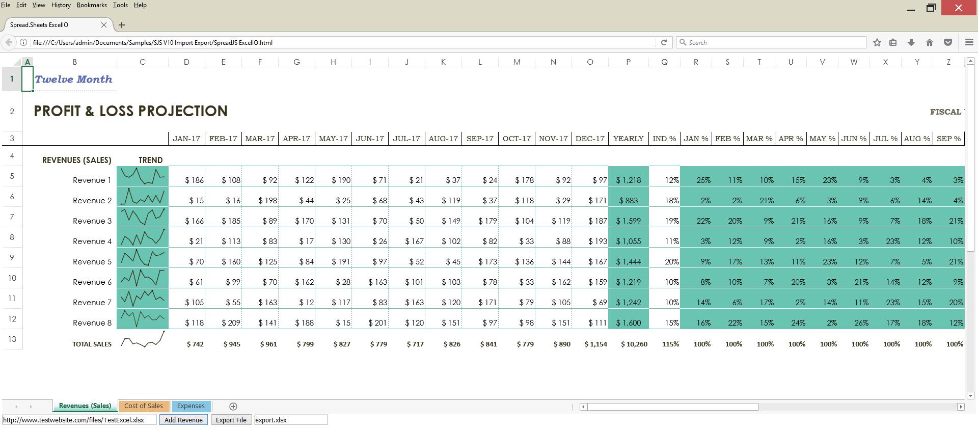 Convert Spreadsheet To Excel Pertaining To How To Import/export Excel Spreadsheets Using Javascript  Spreadjs