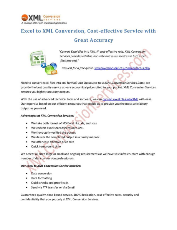 Convert Xml Into Excel Spreadsheet Within Calaméo  Excel To Xml Conversion, Costeffective Service With Great
