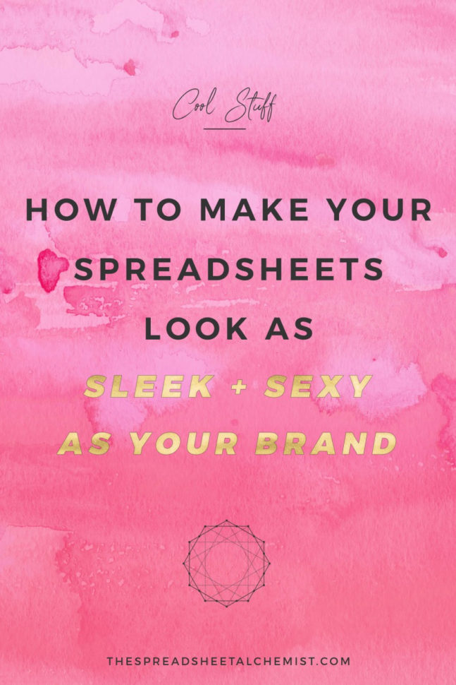 Cool Looking Spreadsheets Within How To Make Your Excel Spreadsheets Look Sleek  Sexy  The