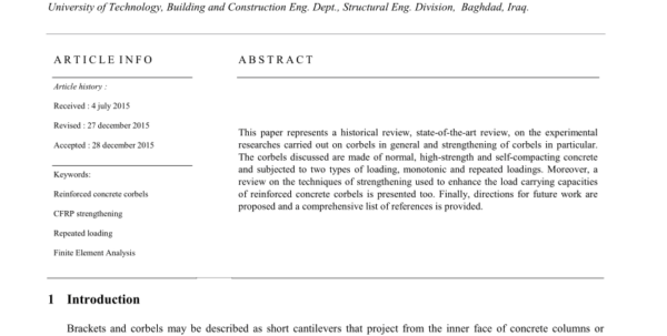 Corbel Design Spreadsheet Intended For Pdf Reinforced Concrete Corbelsstate Of The Art A R T I C L E I N F O Corbel Design Spreadsheet Google Spreadsheet