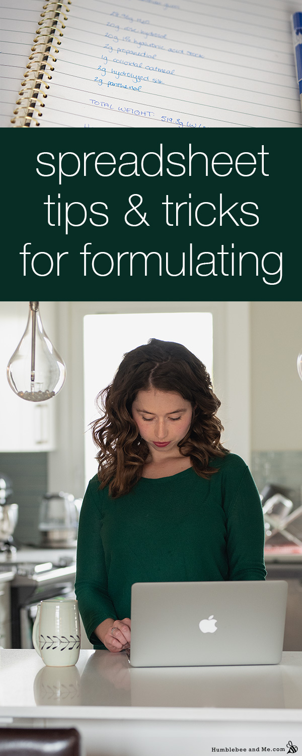 Cosmetic Formulation Spreadsheet With Regard To Formulating And Diying With Spreadsheets  Humblebee  Me