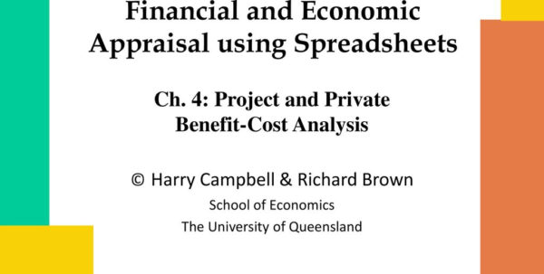 Cost Benefit Analysis Financial And Economic Appraisal Using Spreadsheets With Regard To Benefitcost Analysis Course: Project  Private Analysis  Ppt Download