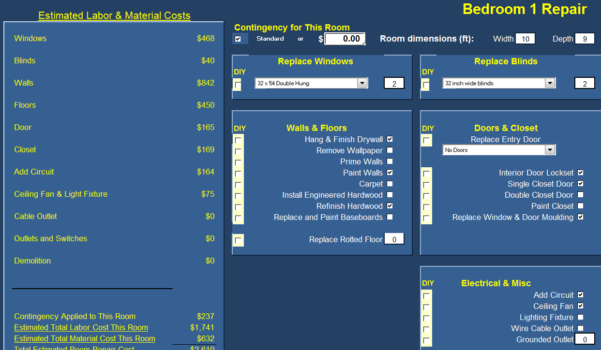 Cost Of Buying A House Spreadsheet Within Success! : The Rehab Offer Calculator