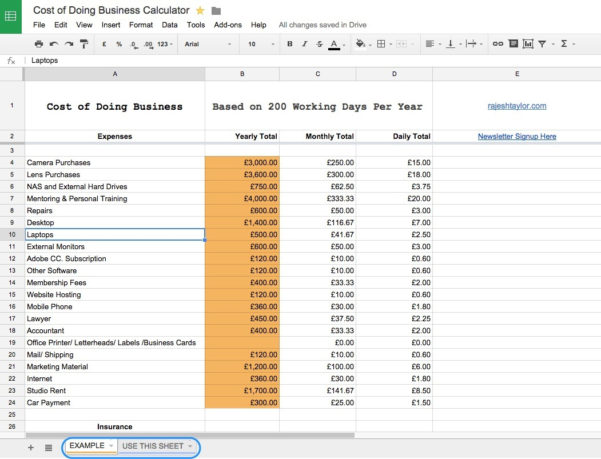 Cost Of Doing Business Spreadsheet Intended For Field Notes  Rajesh Taylor  St James's  Mayfair London Photographer