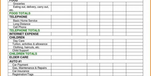 Cost Of Doing Business Spreadsheet Intended For Personal Budget Spreadsheet Template Free Monthly Expense Templates