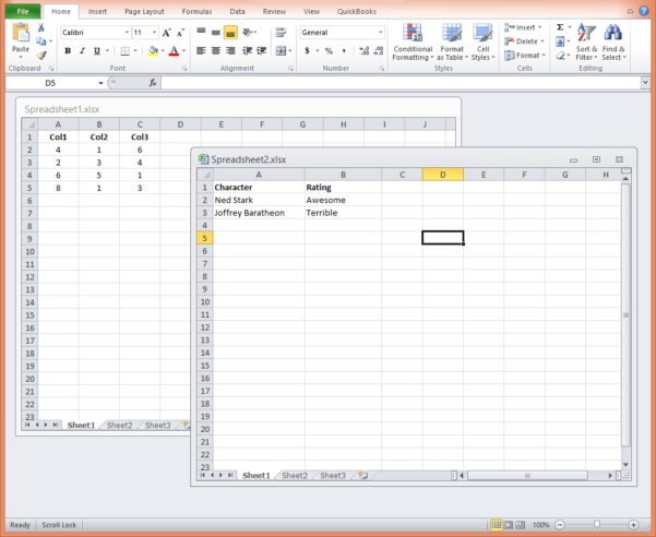 Costume Plot Spreadsheet Intended For How To Open Excel 2010 Spreadsheets In A New Window  Matt Refghi