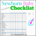 Costume Plot Spreadsheet Regarding Printable Newborn Checklist ⋆ Homemade For Elle