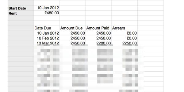 Cpd Recording Spreadsheet Throughout Rent Schedule Sheet Rent Card  Grl Landlord Association