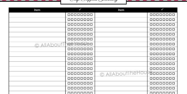 Craft Inventory Spreadsheet Regarding Craft Supplies Inventory  Allaboutthehouse Printables