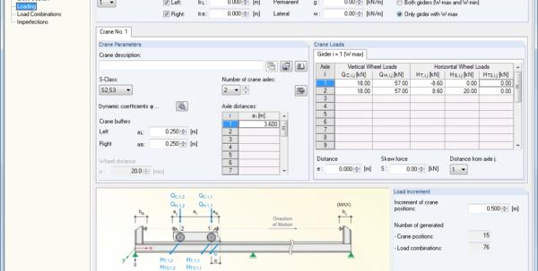Crane Beam Design Spreadsheet In Craneway: Craneway Girder Design Acc. To Eurocode 3  Dlubal Software