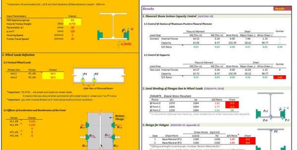 Crane Beam Design Spreadsheet Regarding Excelvba; Design Of Monorail Beam Cranes  Freelancer Crane Beam Design Spreadsheet Payment Spreadsheet