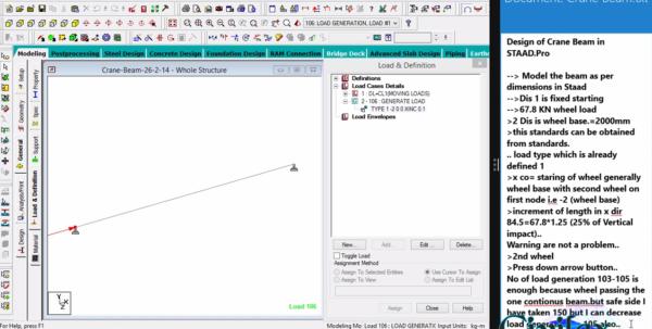 Crane Beam Design Spreadsheet Throughout Design Of Crane Beam In Staad.pro V8I