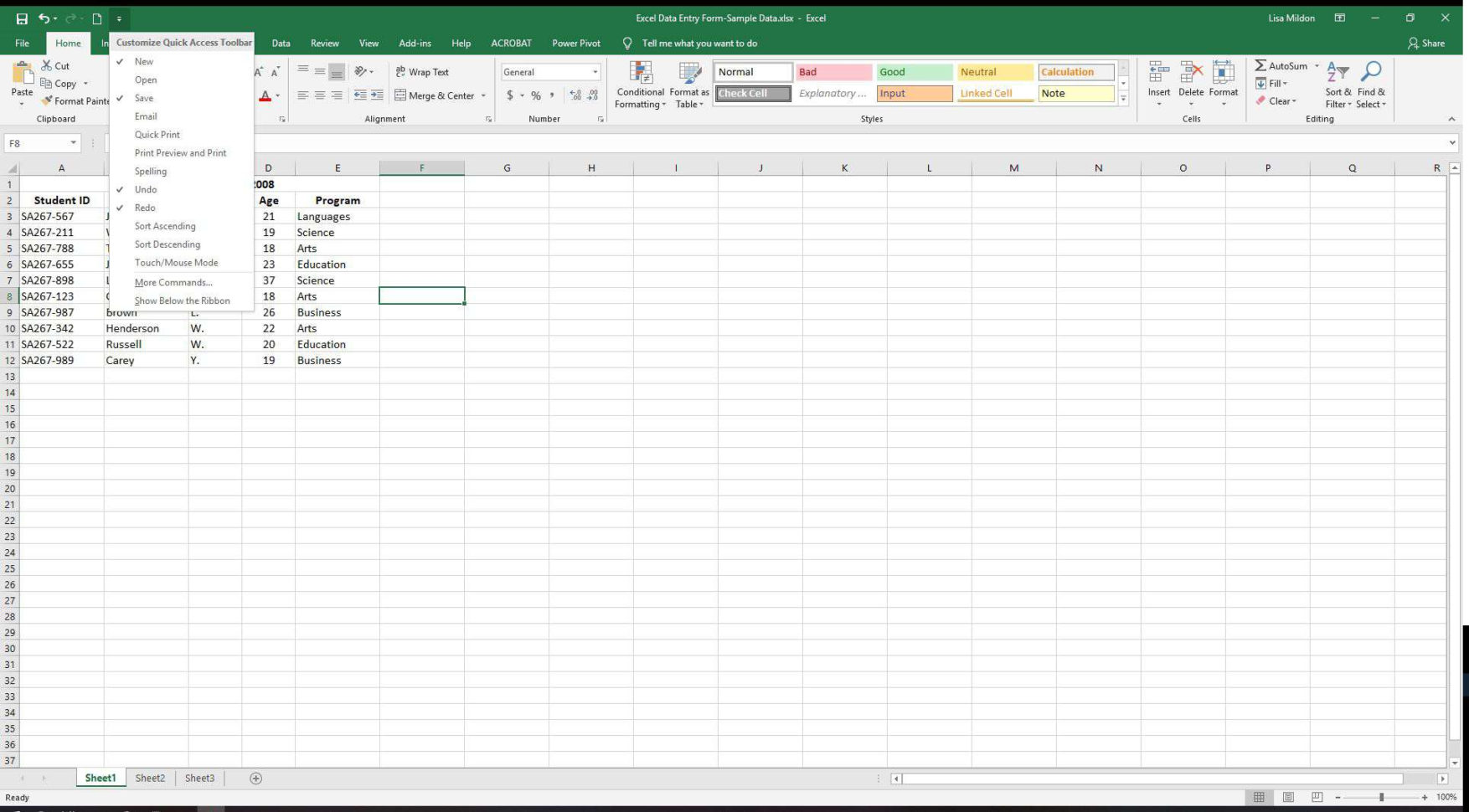 Create A Form From Excel Spreadsheet For Excel Data Entry Form Tutorial