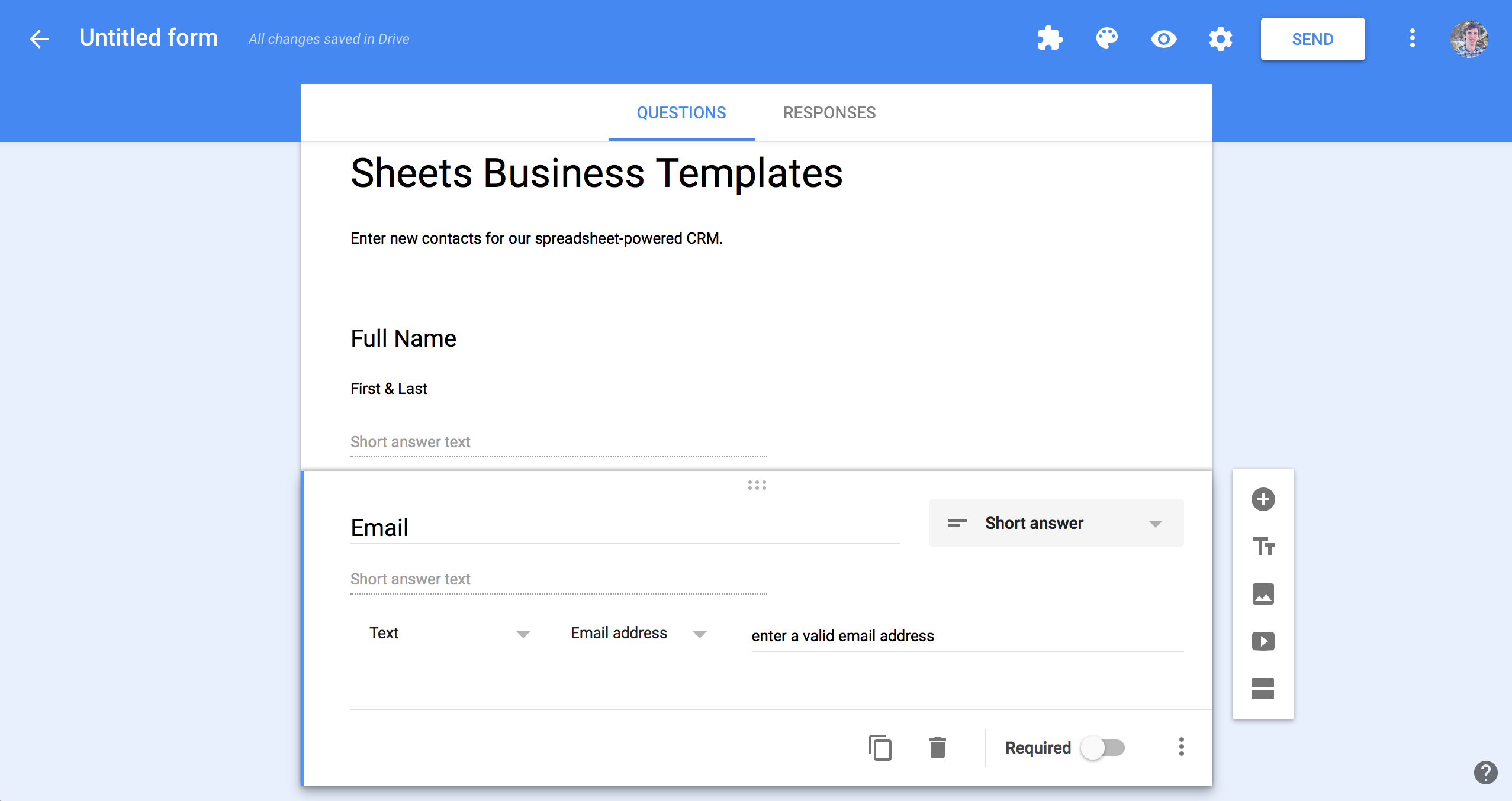 Create A Form In Excel To Populate A Spreadsheet In Spreadsheet Crm: How To Create A Customizable Crm With Google Sheets